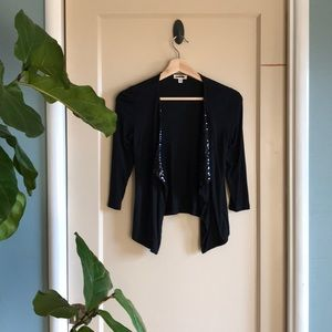 UO Silence + Noise cropped sequin accent cardigan